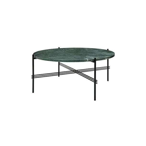 Gubi - TS Table - Sort stel/Marmor - Sofabord Ø80