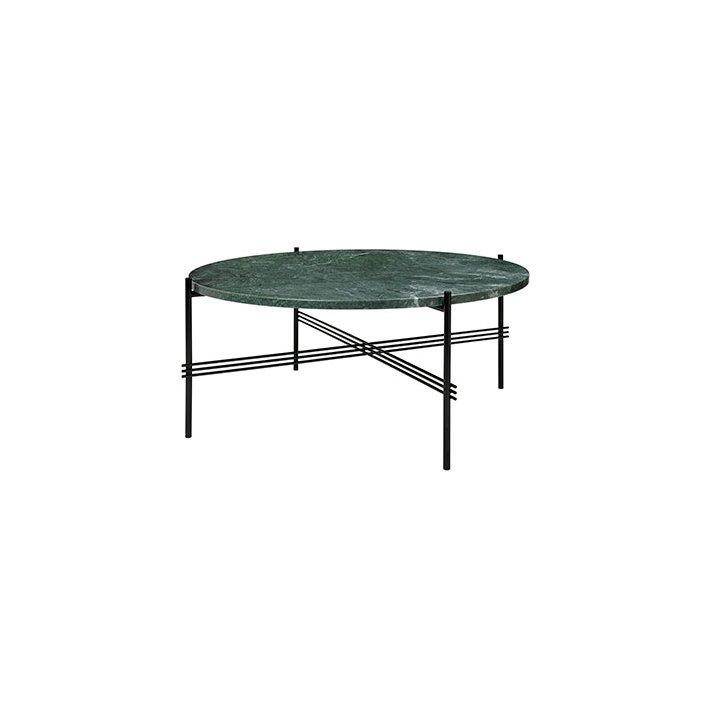 TS Table - Sort stel/Marmor - Sofabord Ø80