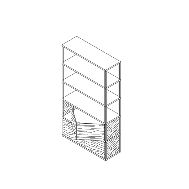 HAY - New Order Reol - Vertikal reol Gul Eg