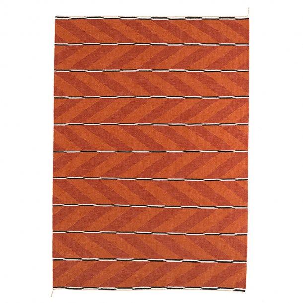 Nordic Modern - VK-6 tæppe | Orange/Rød