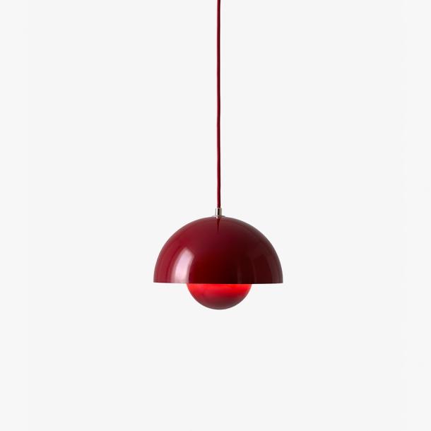 &Tradition - Verner Panton - Flowerpot VP1 - Mørkerød