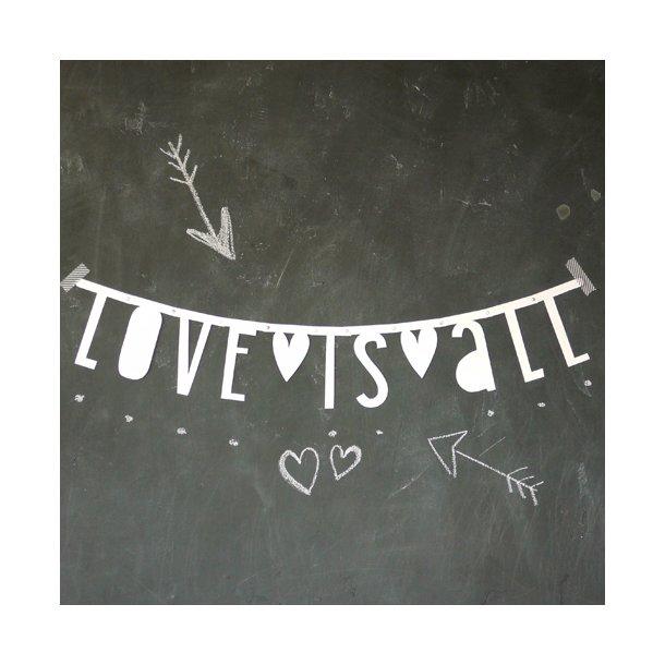 OUTLET - A Little Lovely Company - Bogstav banner - Hvid*