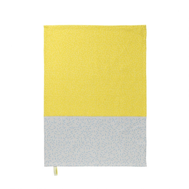 NOMESS - Splash Tea Towel - yellow/blue - 2 pcs